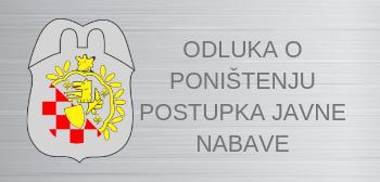 Odluka o poništenju postupka javne nabave