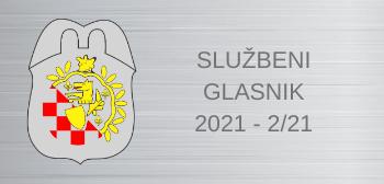 Službeni glasnici za 2021:  2/21