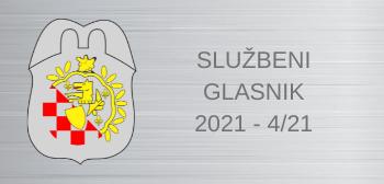 Službeni glasnici za 2021:  4/21